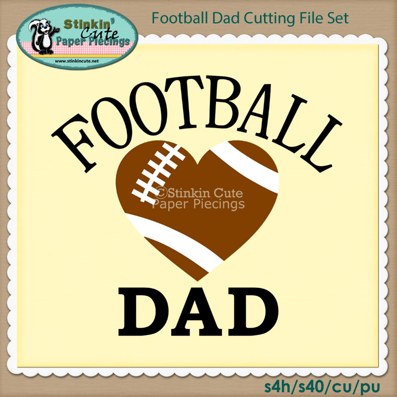 Football Dad Cutting File Set