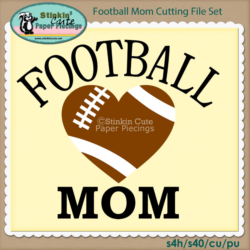 Football Mom Cutting File Set