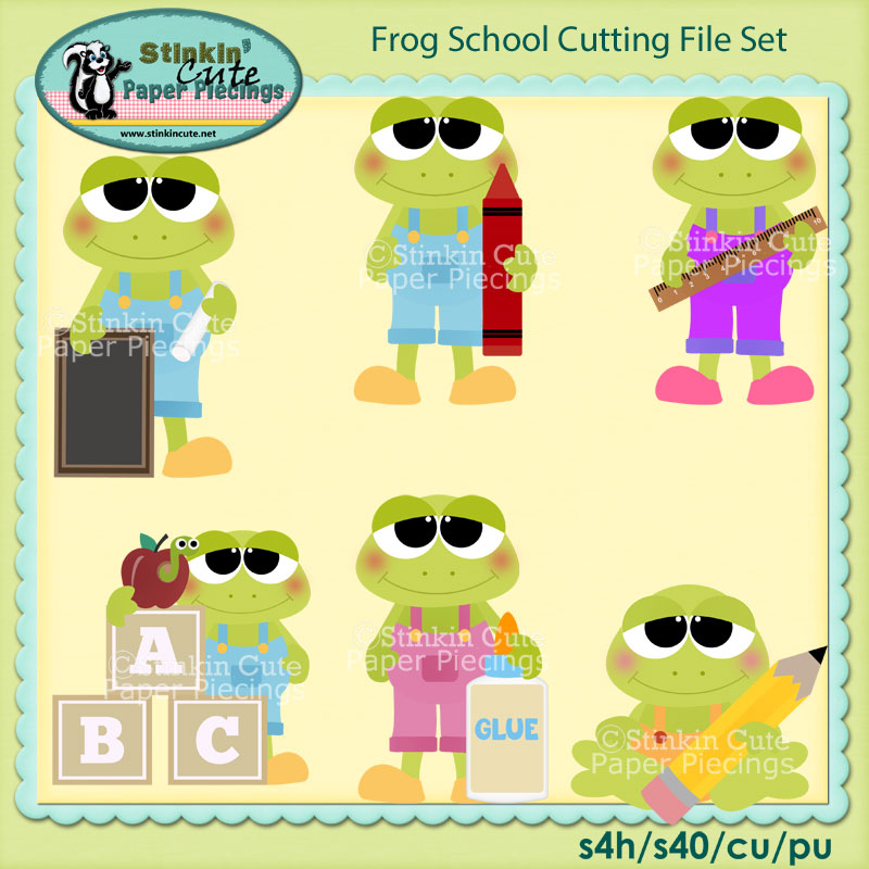 Frog School Cutting File Set