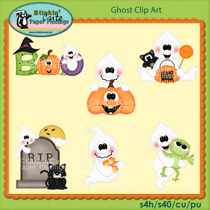 Ghost Clip Art Set