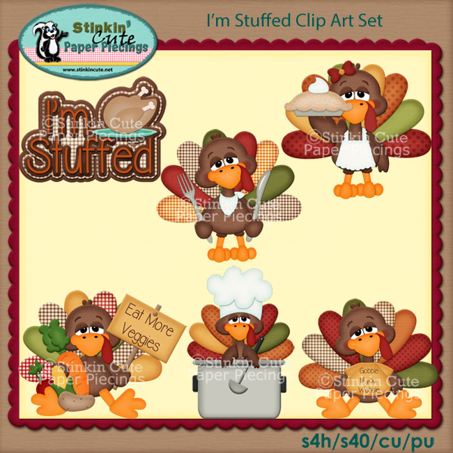 I'm Stuffed Clip Art Set