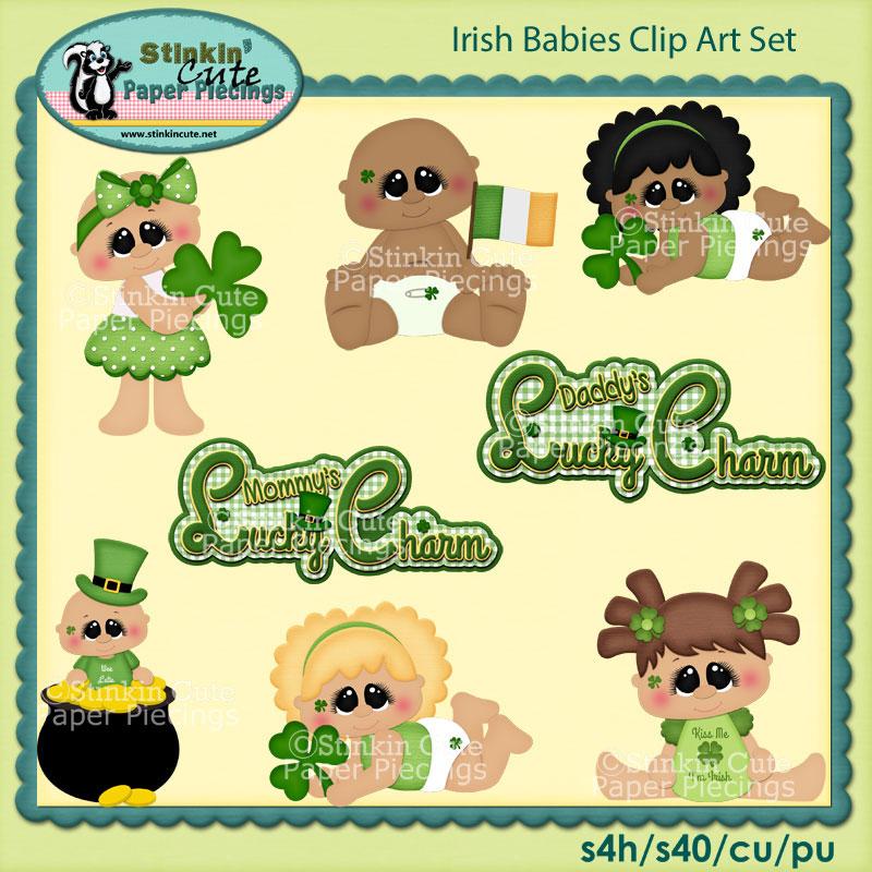 Irish Babies Clip Art Set