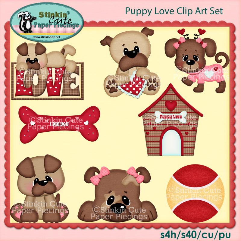 Puppy Love Clip Art Set