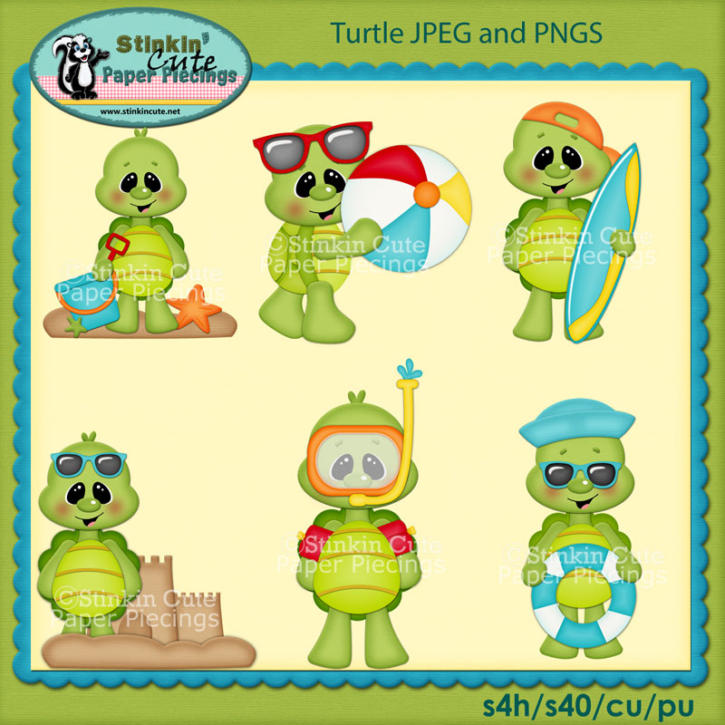 Turtle Clip Art Set