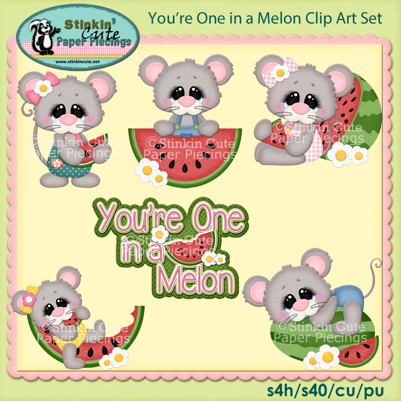 You're One in Melon Clip Art Set