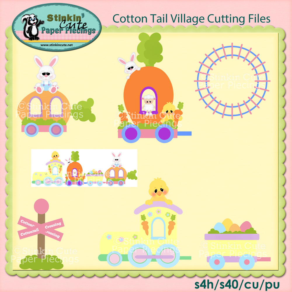 Cottontail Train Cutting File Set
