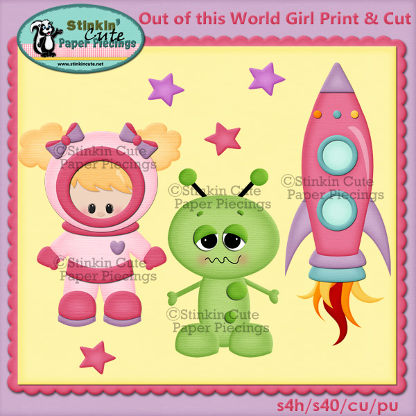 Out of this world girls Print & Cut