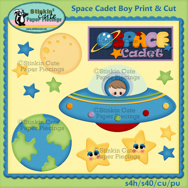 (S) Space cadet (boy) Print and Cut