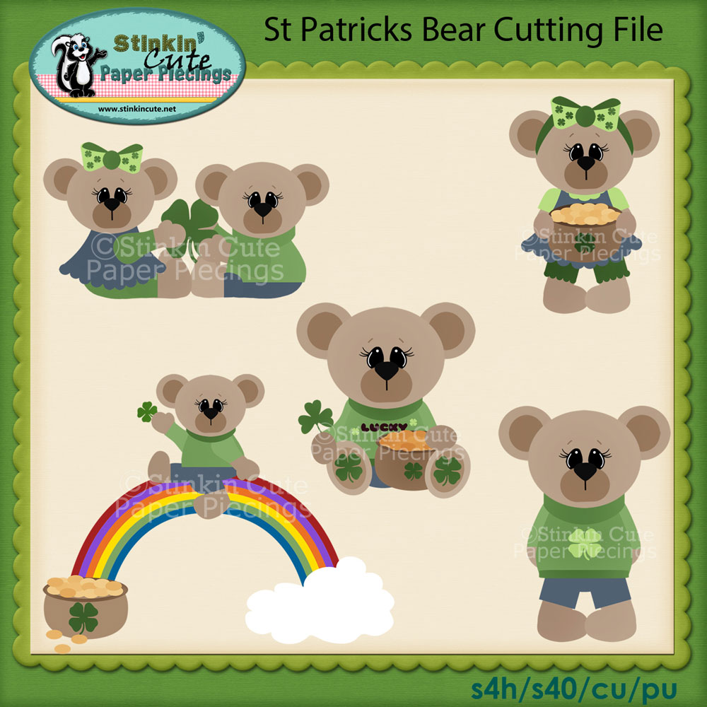 St. Patricks Bear Cutting File Set