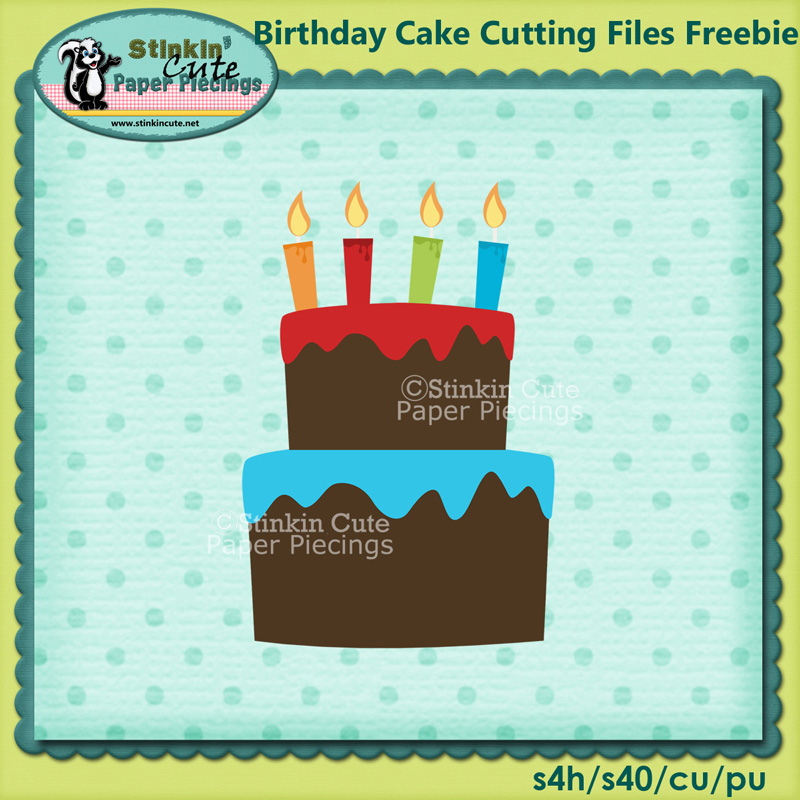 Birthday Cake Cutting File Freebie