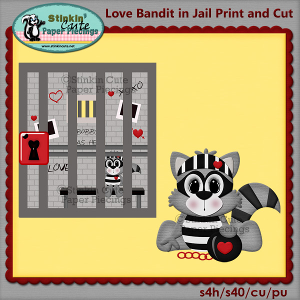 Love Bandit in Jail Print & Cut