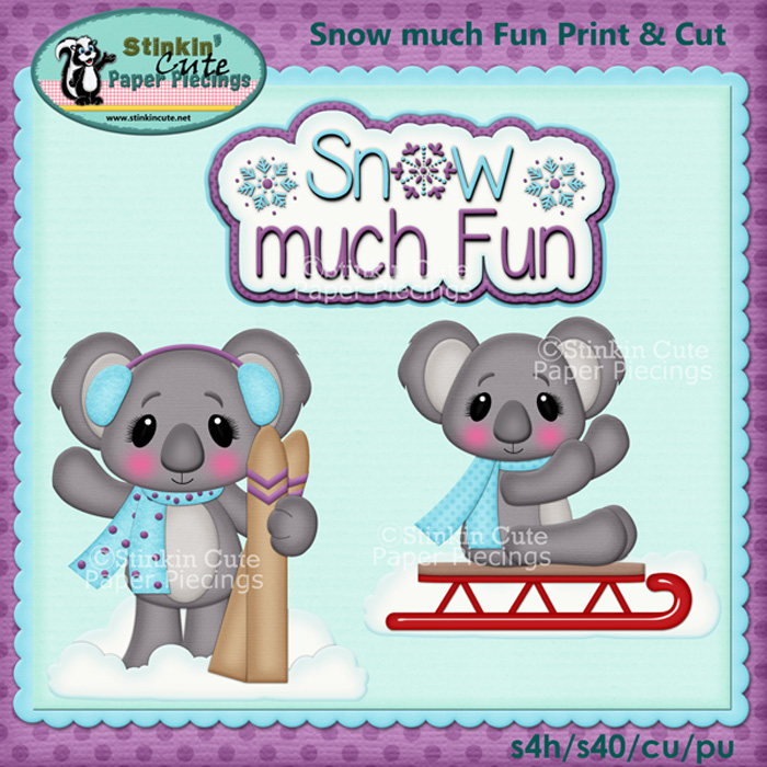 (S) Snow much fun Koalas Print and Cut