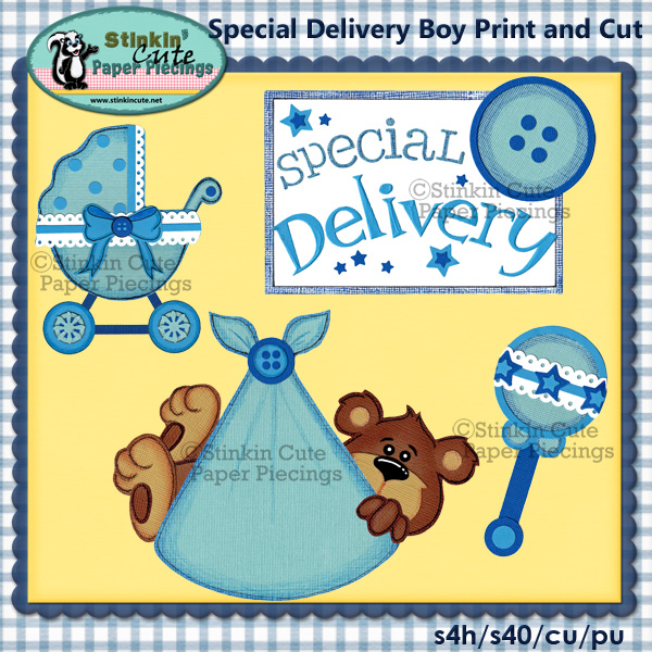 (S) Special Delivery Boy Print and Cut