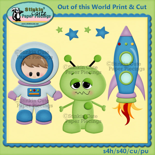 (S) Out of this world (boys) Print and Cut