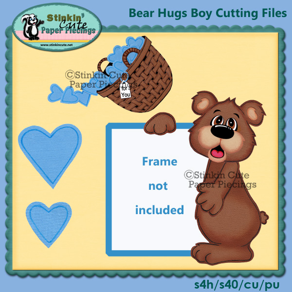 Bear Hugs Boy Cutting File Set