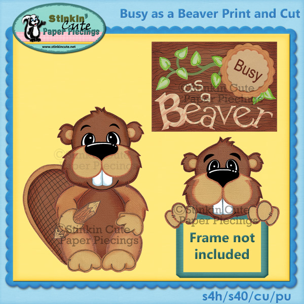 (S) Busy as a Beaver Print and Cut