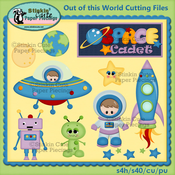 Out Of This World Boy Cutting File Set