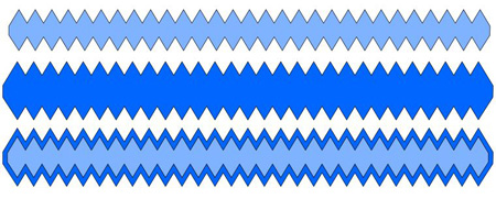 Zig Zag Border w shadow Cutting File Set