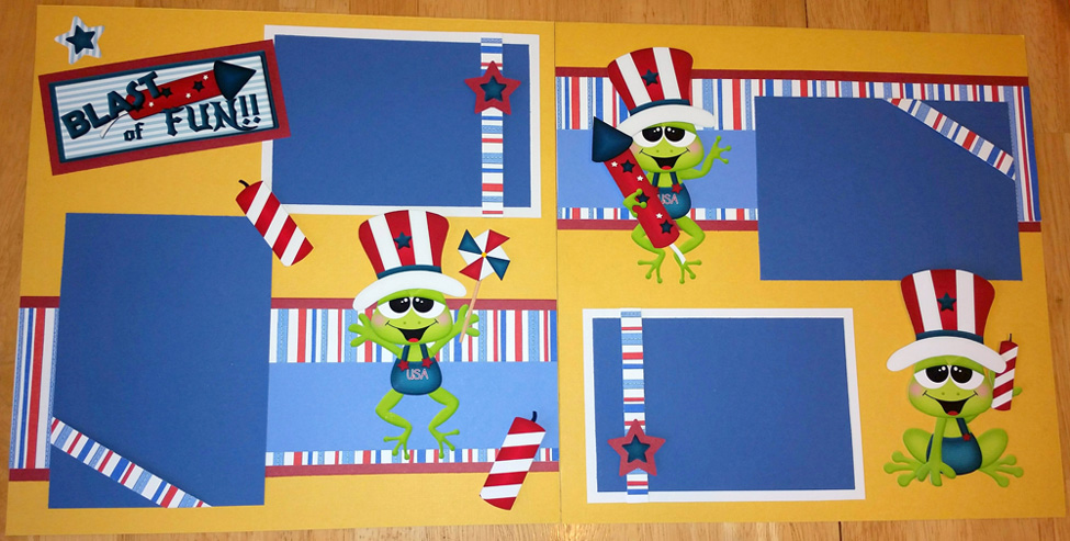 4th of July Frogs (Boys) Page Kit