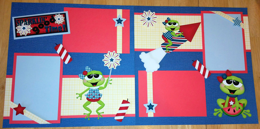 4th of July Frogs (Girls) Page Kit