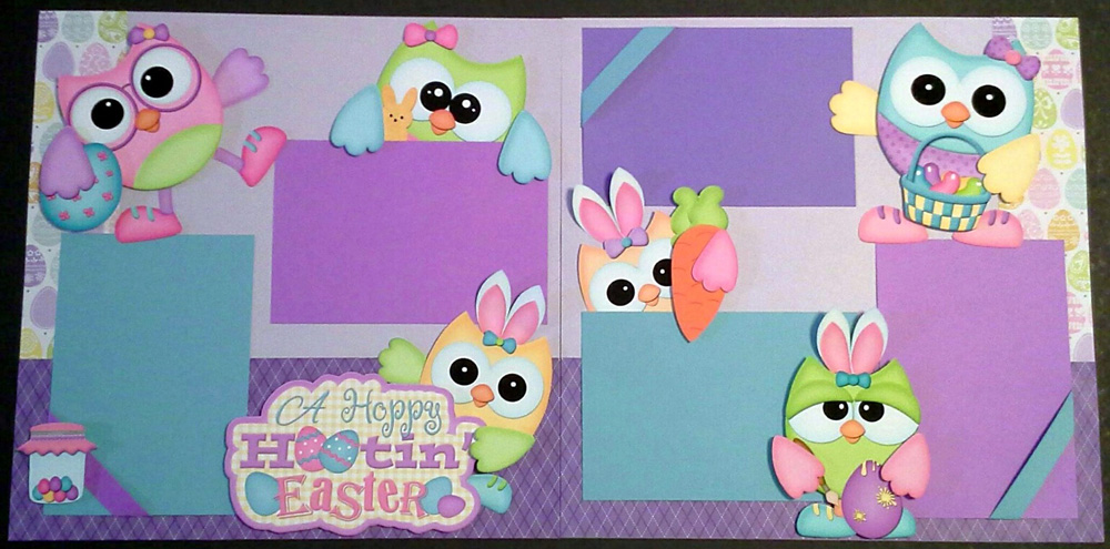 A Hoppy Hootin Easter Page Kit