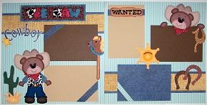 Cowboy bear Page kit