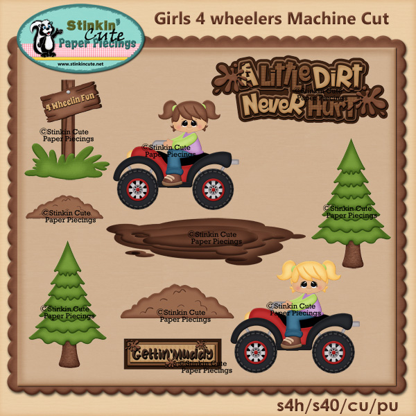 Girls 4 Wheeler fun PNC Machine Cut