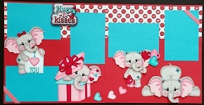 Hugs n Kisses Elephant Girl Page Kit