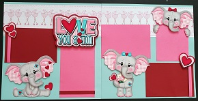 Love you a ton elephant girl page kit