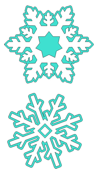 Snow Flakes Cutting File Set