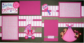 Special Delivery baby girl page kit