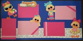 Summer Fun Girl Ducks Page Kit