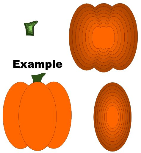 Tall Pumpkin Layers Cutting File Set