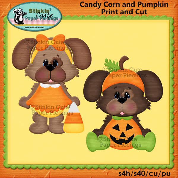 (S) Halloween dogs Candy Corn & Pumpkin