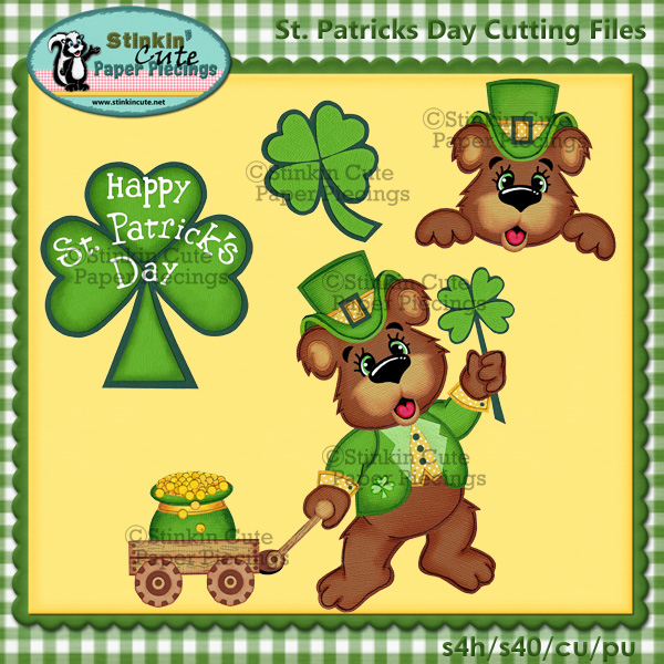 St. Patricks Day Cutting File Set