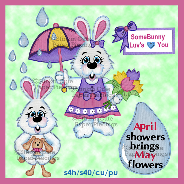 (S) April Showers (Girls) Print and Cut