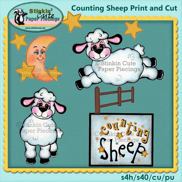 (S) Counting Sheep Print and Cut