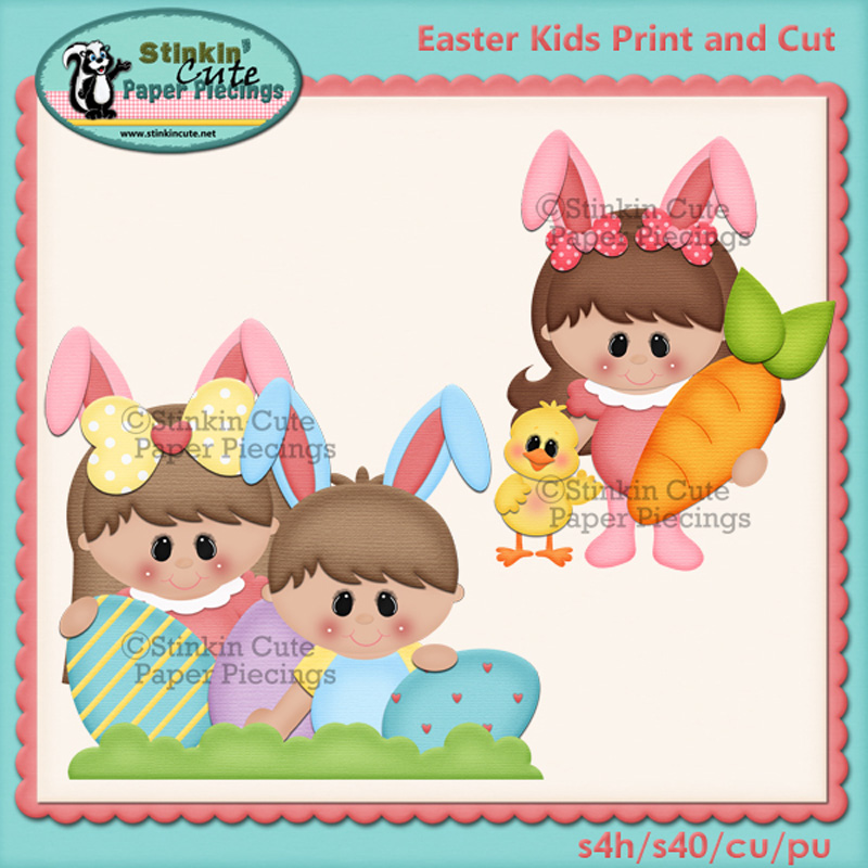 (S) Easter Kids Print and Cut