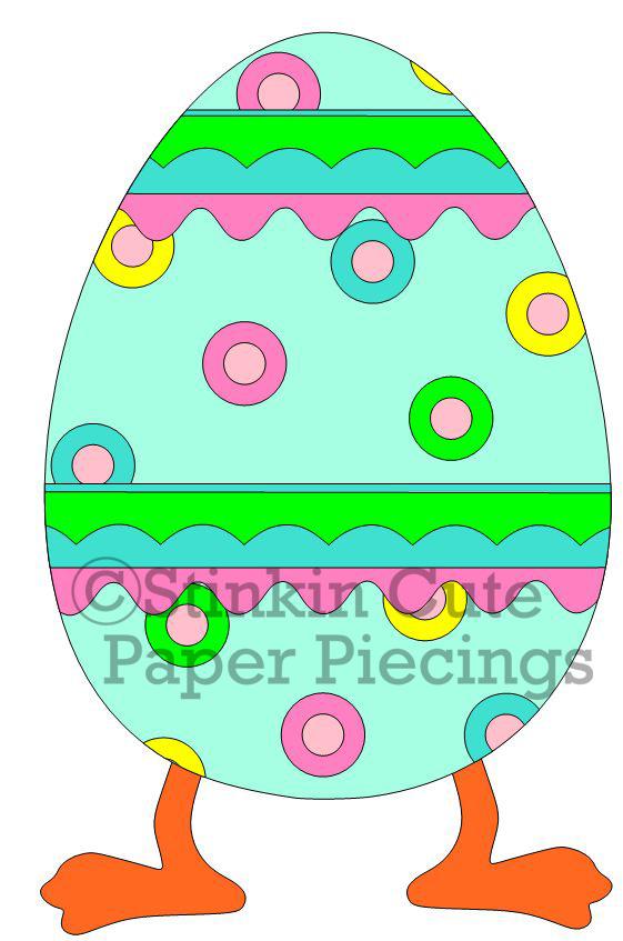 Egg w legs Cutting File Set
