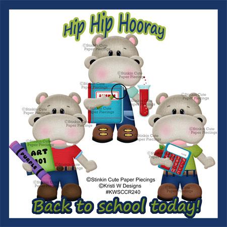 Hippo School Boys Cutting Files