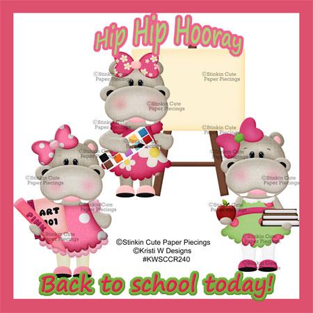 Hippo School Girls Cutting Files