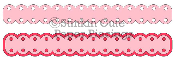 Med Double Sided Scallop w holes Cutting File Set