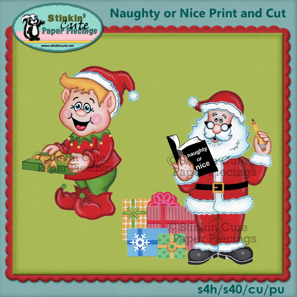 (S) Naughty or Nice Print and Cut