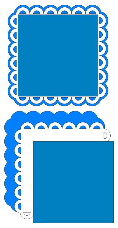 Square Scallop Frame Cutting File Set
