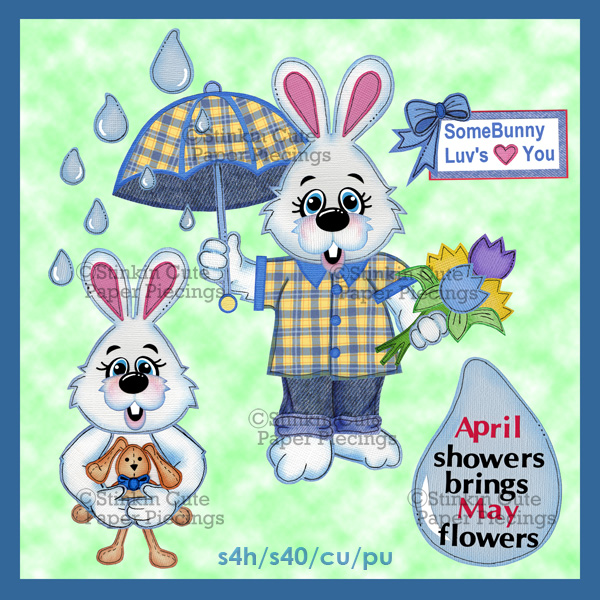 (S) April Showers (Boys) Print and Cut