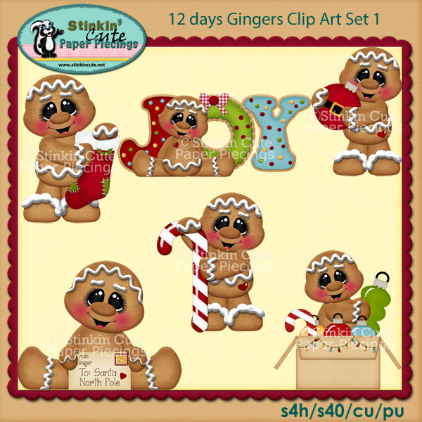12 days Gingers Clip Art Set 1