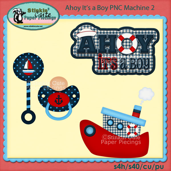 Ahoy It's a Boy PNC Machine 2