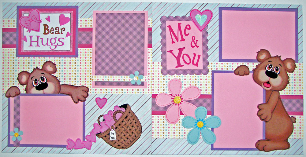 Bear Hugs Girl Page Kit