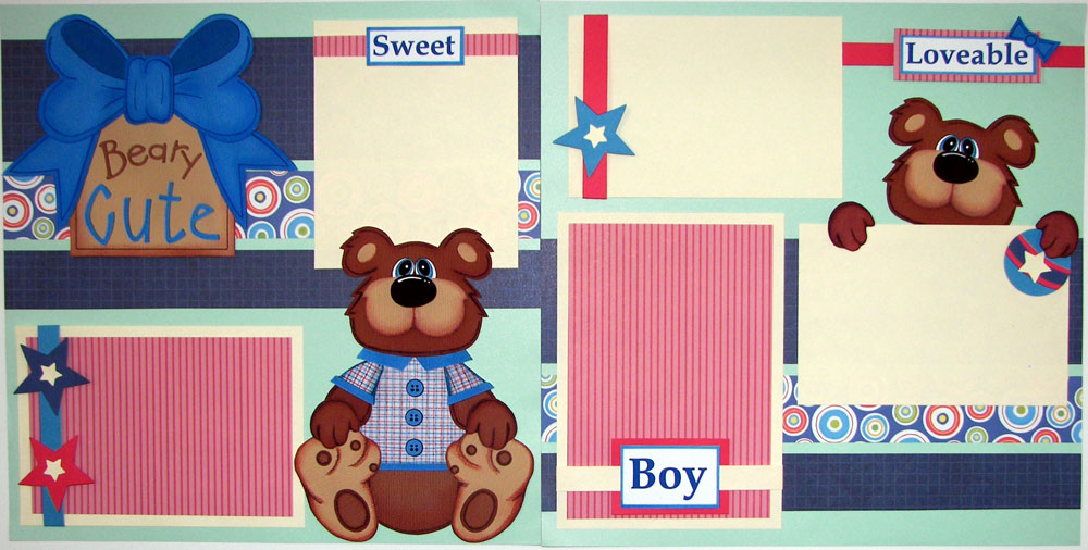 Beary Cute Boy Page Kit
