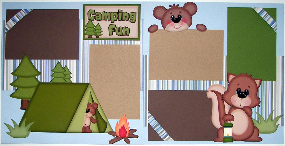 Camping Fun Page Kit